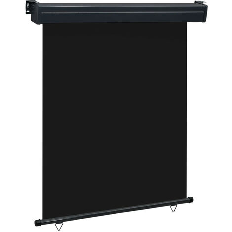 Toldo lateral de balcon negro 140x250 cm