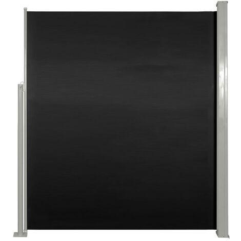 Toldo lateral de jardín o terraza 160 x 300 cm negro