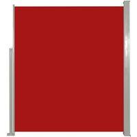 Toldo lateral de jardín o terraza 180x300 cm rojo