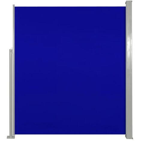 Toldo lateral de jardín o terraza azul 160x300 cm