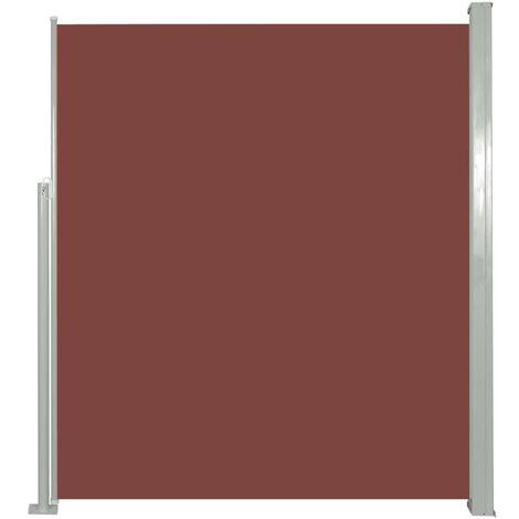 Toldo lateral de jardín o terraza marrón 160x300 cm