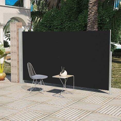 Toldo lateral de jardín o terraza negro 180x300 cm