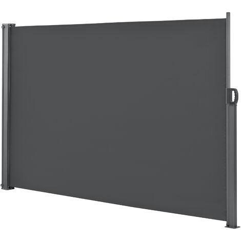 Toldo lateral - en diferentes colores y tamaños - Exterior - contra viento, sol y visión - Gris - 160 x 300cm