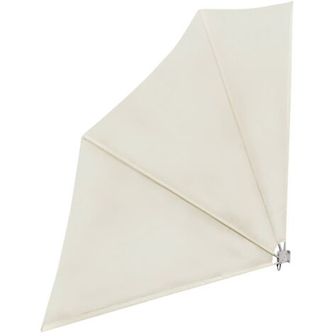 Toldo lateral plegable de balcón color crema 140x140 cm