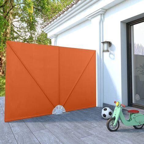 Toldo lateral plegable terraza color terracota 240x160 cm