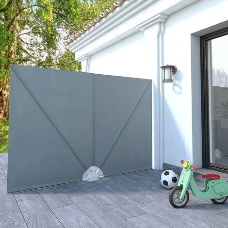Toldo lateral plegable terraza gris 240x210 cm - Gris