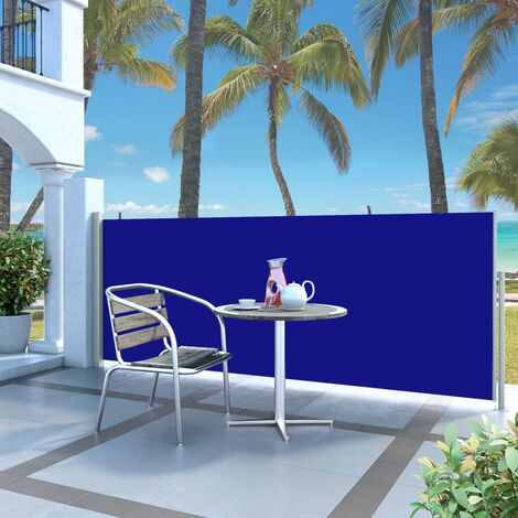 Toldo lateral retráctil 120x300 cm azul