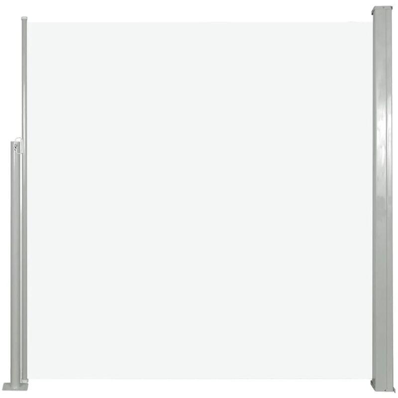 Toldo Lateral Doble Separador Retráctil Protección Viento Jardin Balcón Negro