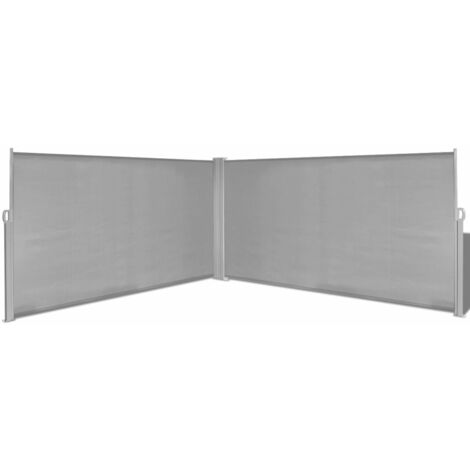 Toldo Lateral Retractil 160x600 cm Gris
