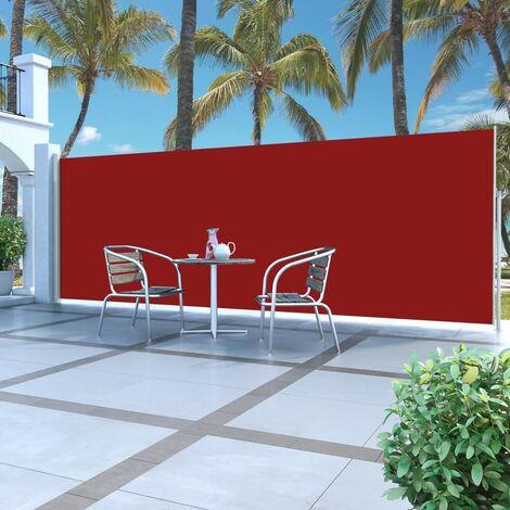 Toldo lateral retráctil 180x500 cm rojo