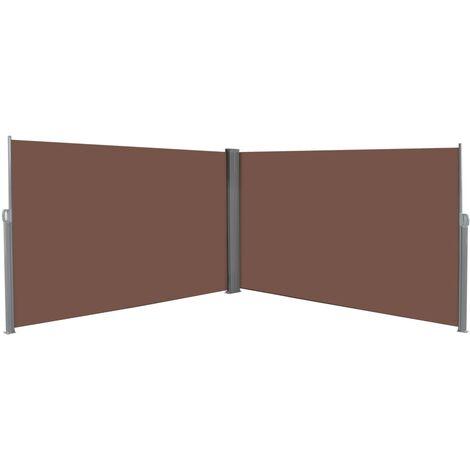 Toldo lateral retráctil 180x600 cm marrón