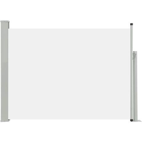 Toldo lateral retráctil de jardín crema 100x500 cm