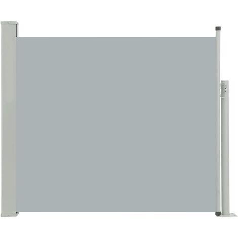 Toldo lateral retráctil de jardín gris 100x300 cm