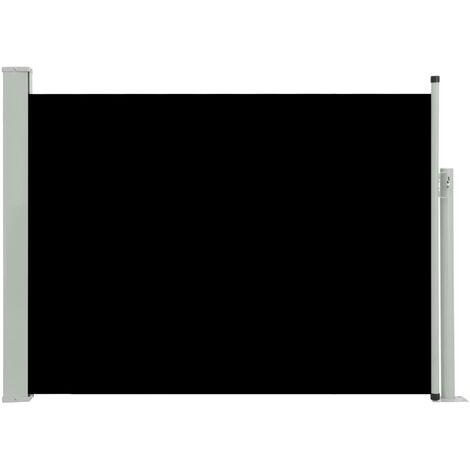 Toldo lateral retráctil de jardín negro 100x500 cm