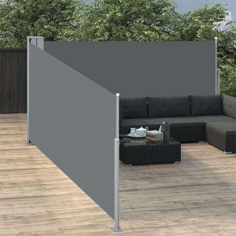Toldo lateral retráctil gris antracita 100x1000 cm