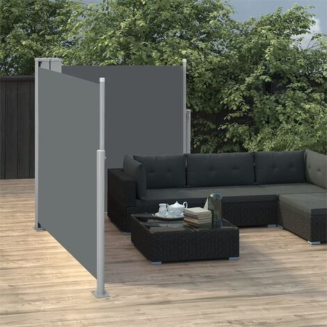 Toldo lateral retráctil gris antracita 100x600 cm