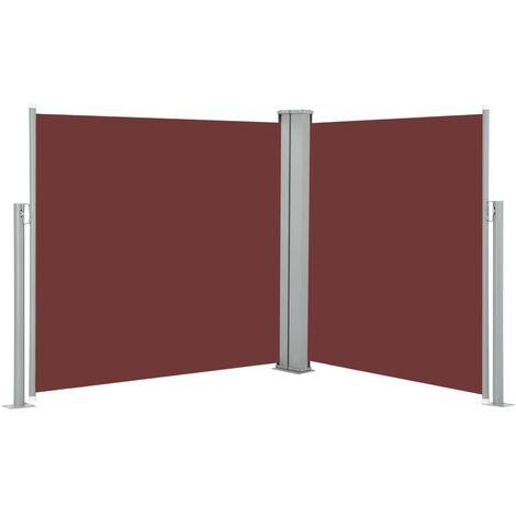 Toldo lateral retráctil marrón 100x600 cm