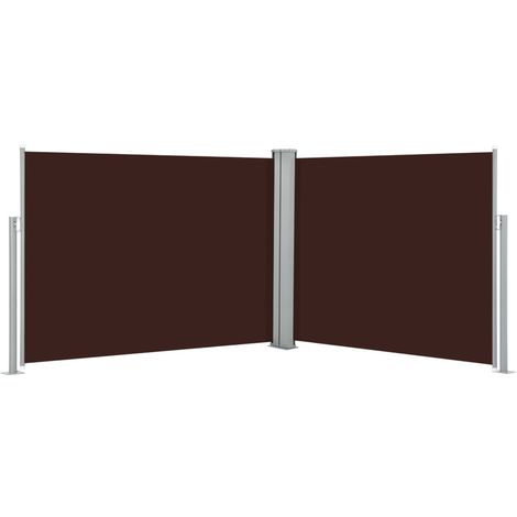 Toldo lateral retractil marron 170x1000 cm
