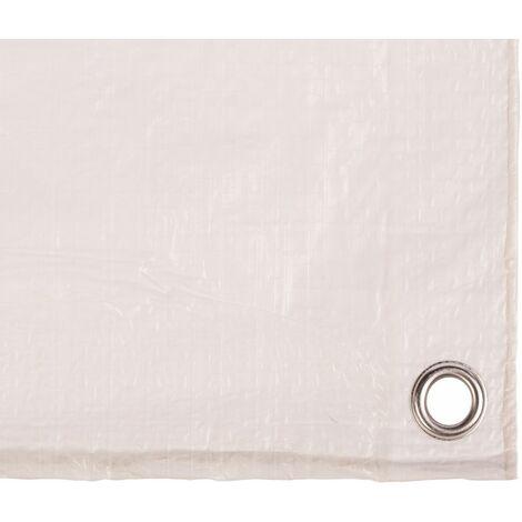 Toldo/lona protección leña Catral 300 x 400 cm color blanco - 56010008