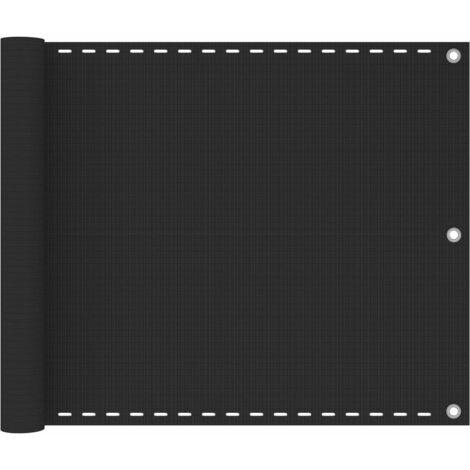 Toldo para balcón HDPE 75x400 cm gris antracita