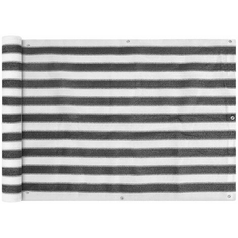 Toldo para balcon HDPE 75x400 cm gris antracita y blanco