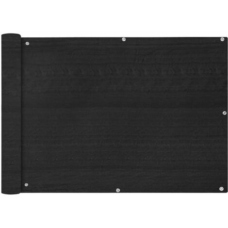 Toldo para balcón HDPE 75x600 cm gris antracita