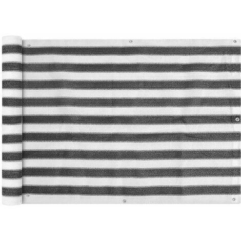 Toldo para balcon HDPE 75x600 cm gris antracita y blanco