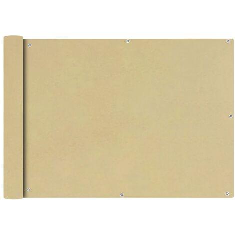 Toldo para balcón tela oxford 75x400 cm beige