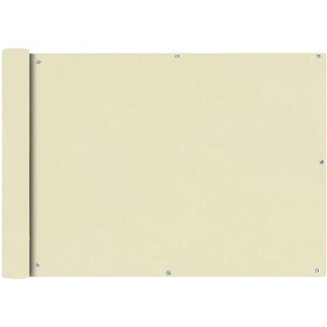 Toldo para balcón tela oxford 75x400 cm crema