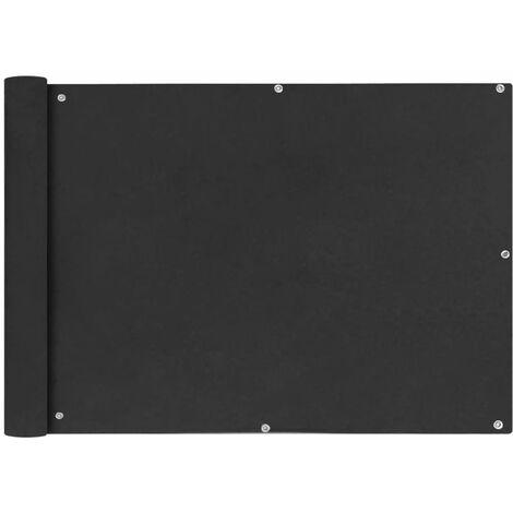 Toldo para balcón tela oxford 75x400 cm gris antracita