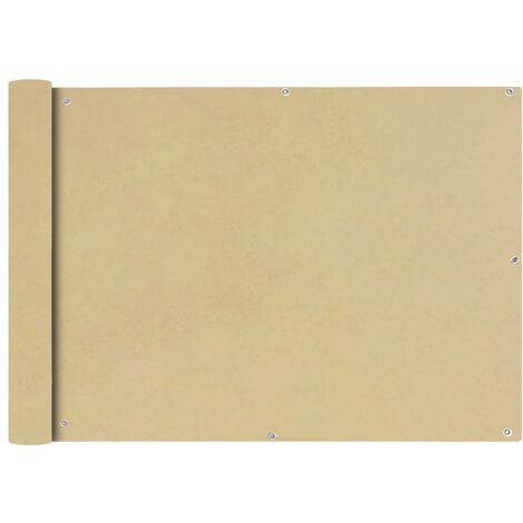 Toldo para balcón tela oxford 75x600 cm beige
