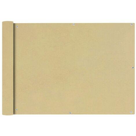 Toldo para balcon tela oxford 75x600 cm beige