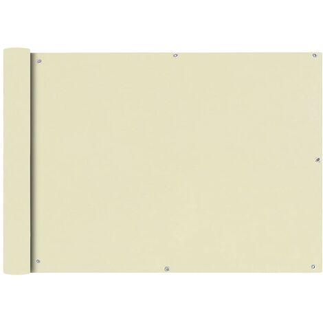 Toldo para balcón tela oxford 75x600 cm crema
