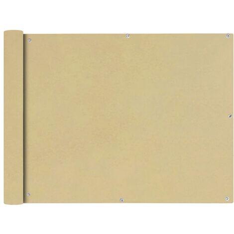 Toldo para balcón tela oxford 90x400 cm beige