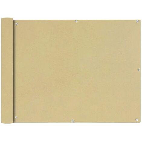 Toldo para balcon tela oxford 90x600 cm beige