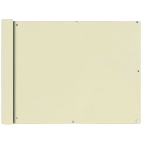 Toldo para balcón tela oxford 90x600 cm crema
