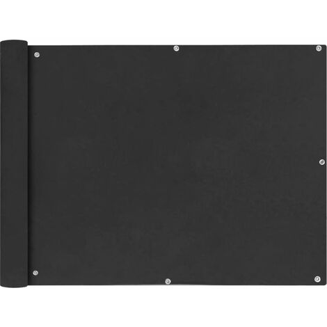 Toldo para balcón tela oxford 90x600 cm gris antracita