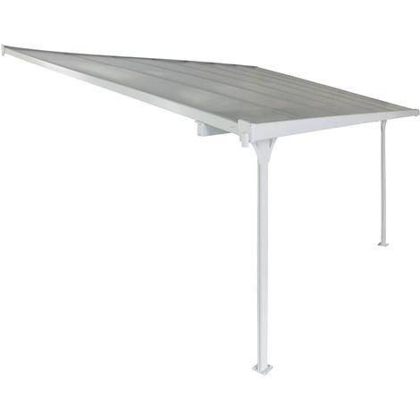 Toldo para jardín en aluminio - Lucia - Blanco