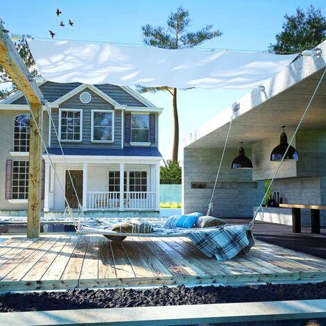 Toldo para patio conjunto completo de tela Oxford 140x420 cm