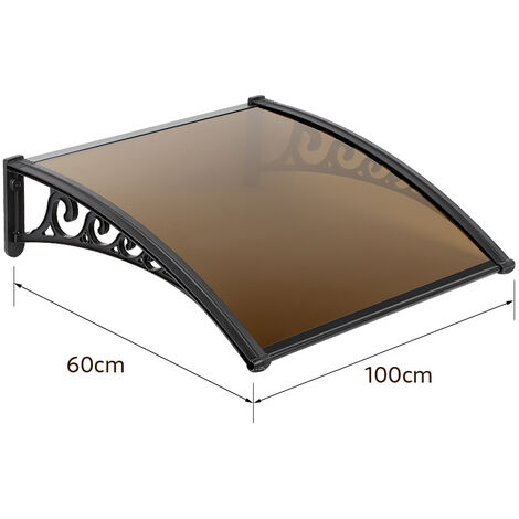 Toldo para puerta Toldo solar para toldo Toldo para entrada Protección de sombra 60 * 100cm Marrón