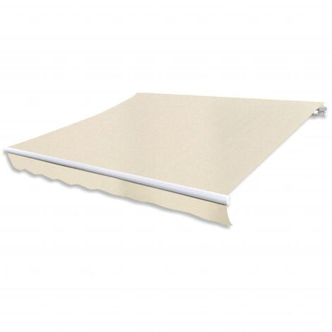 Toldo plegable 400 cm de color crema