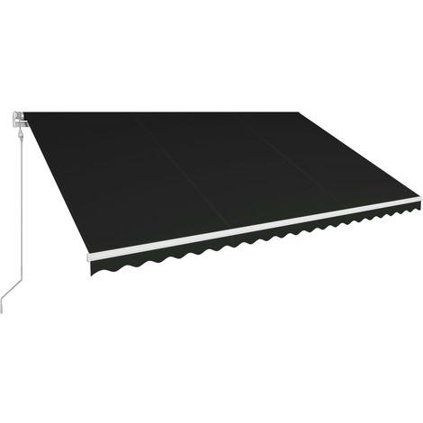 Toldo retractil automatico gris antracita 500x300 cm