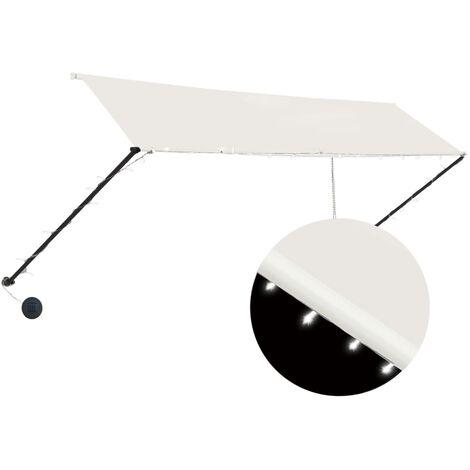Toldo retractil con LED color crema 350x150 cm