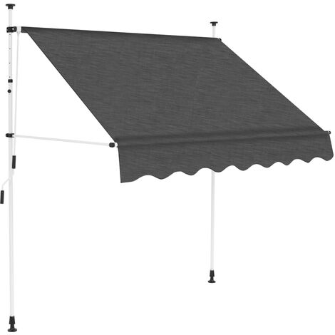 Toldo retráctil de operación manual antracita 200 cm