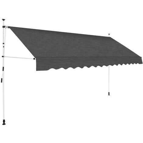 Toldo retráctil de operación manual antracita 350 cm