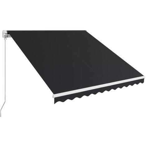 Toldo retráctil manual gris antracita 350x250 cm