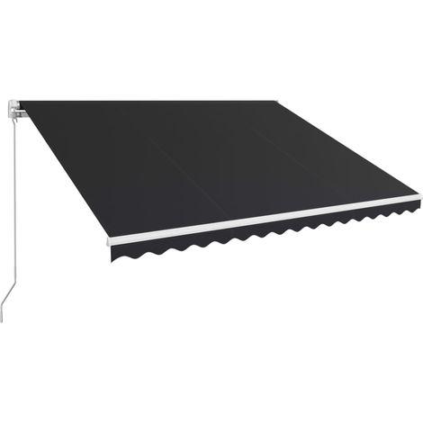 Toldo retractil manual gris antracita 450x300 cm