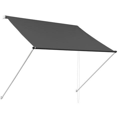 Toldo retráctil protección solar ventana terraza antracita 3,5x1,2m ML-Design®