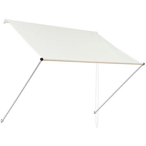 Toldo retráctil protección solar ventana terraza beige 2 x 1,2m ML-Design®
