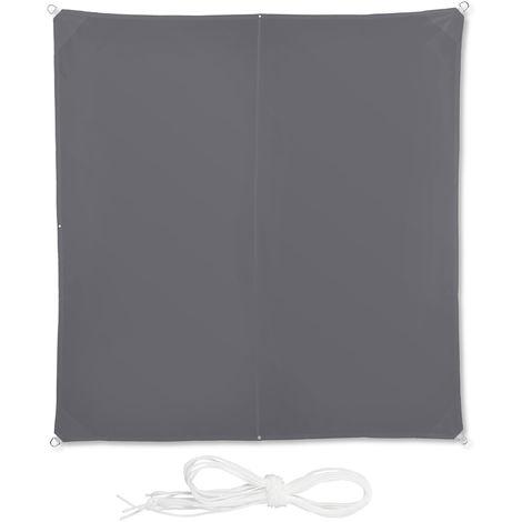 Protecci/ón Rayos UV 3x4x2x2 m con Cuerdas para tensar Impermeable Marr/ón Relaxdays Toldo Vela Trapezoidal